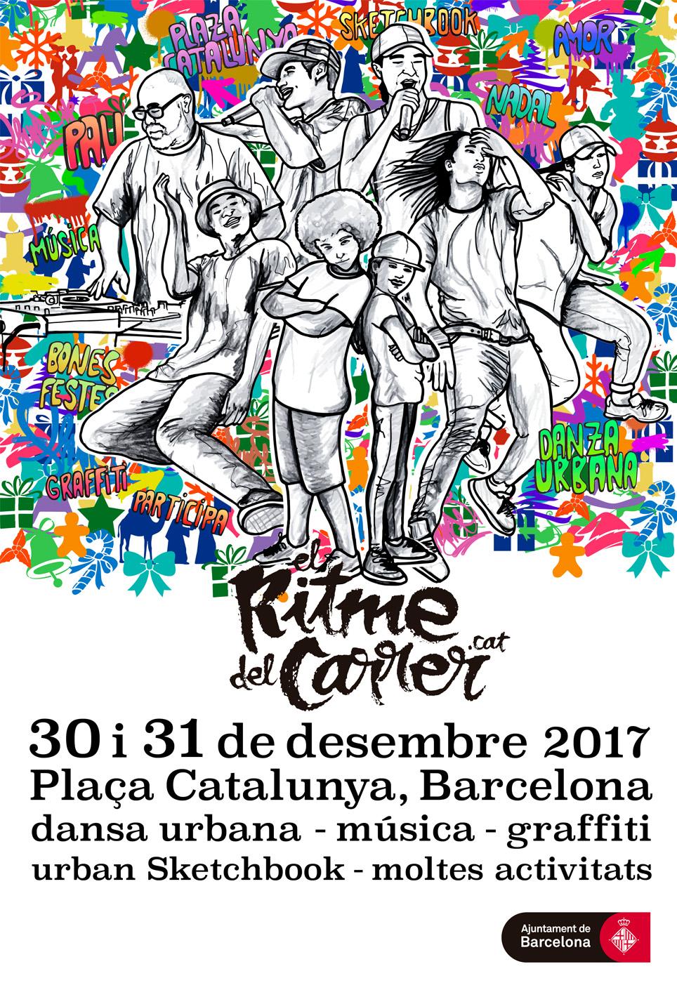 Cartel El Ritme del Carrer Hola NAdal 2017