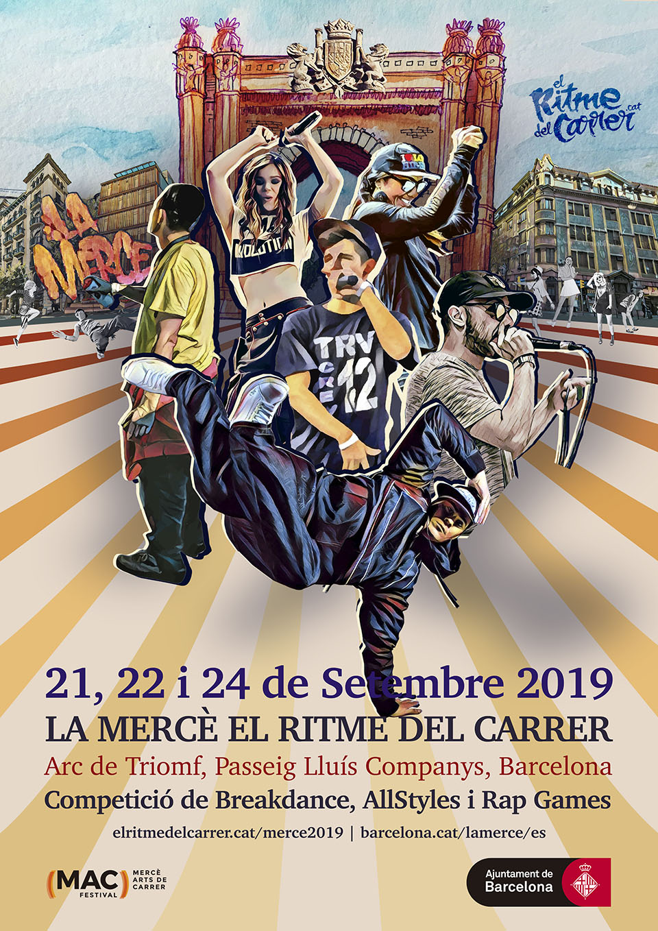 Cartel A3 ERDC Merce 2019 Arc del Triomf lowres