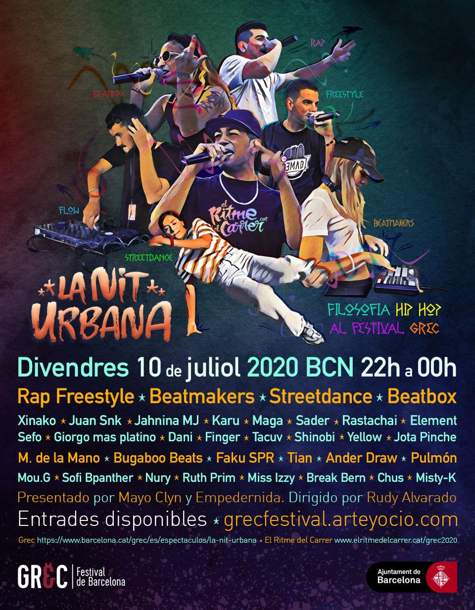 La Nit Urbana al Grec Festival Barcelona 10 de Juliol 2020